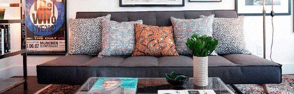 décoration de canapé-lit