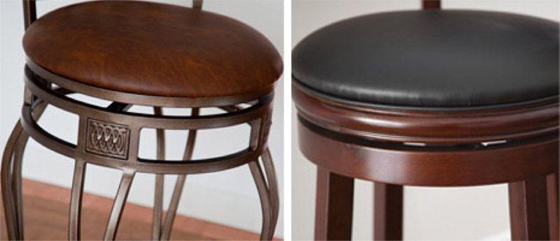 tabourets en bois ou en métal